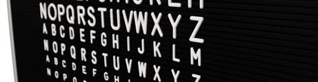 Pizarra clásica con letras